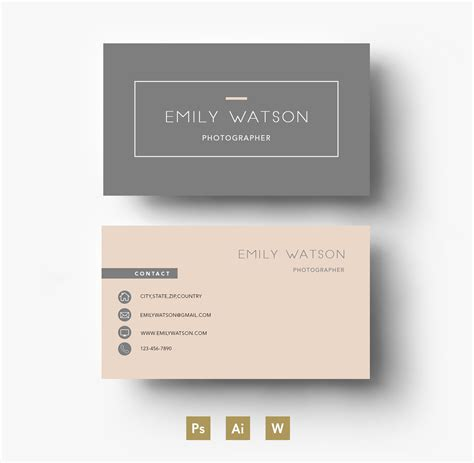 presentation cards template modern two colour template by emily s boutique on