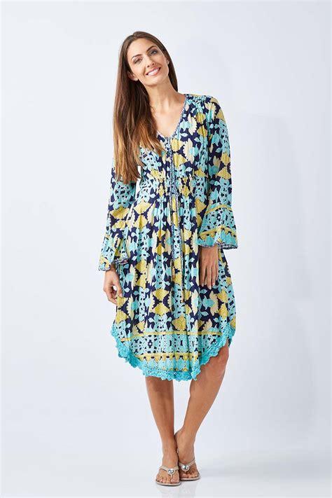 Dress Flora Batik Bahan new ruby yaya womens knee length dresses batik floral dress ebay