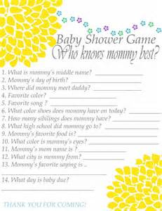 who knows best baby shower questions baby