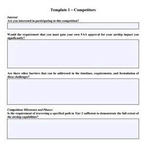 Rfi Forms Template by Sle Rfp Response Template 8 Free Documents In Pdf