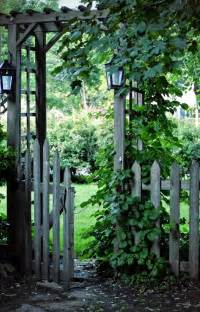 Garden Gate Trellis Arched Arbor With Gate Woodworking Projects Plans