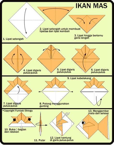 tutorial membuat origami ikan cara membuat origami ikan mas untuk anak