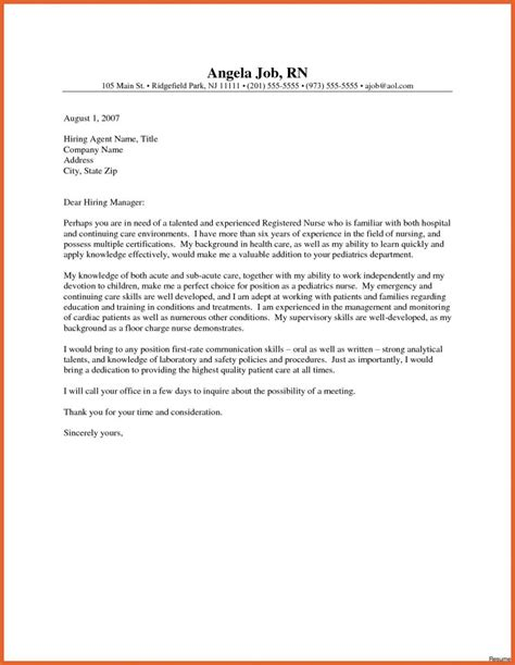 gallery of sample of nursing cover letter writing cover letters