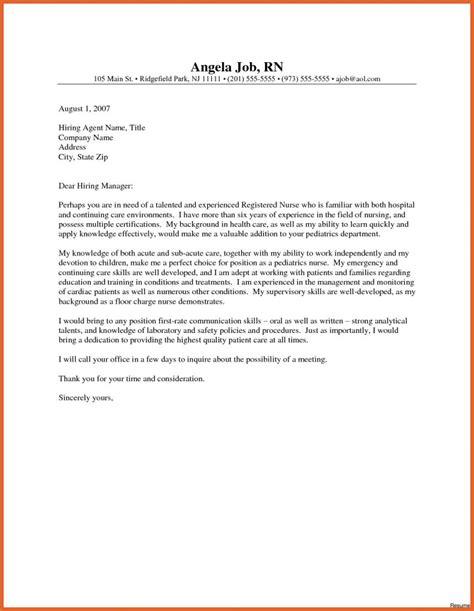 best ideas of sample cover letter for registered nurse resume new