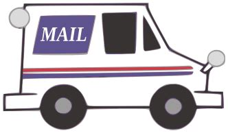 coloring pages mail truck usps mail truck clipart clipart suggest