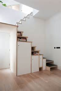 Space Saving Stairs Design Space Saving Stair Storage Design In Plywood
