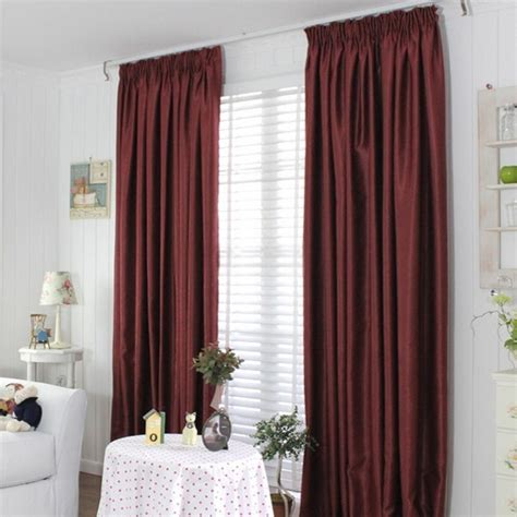 burgundy color curtains insulated window curtains in burgundy color of two panels