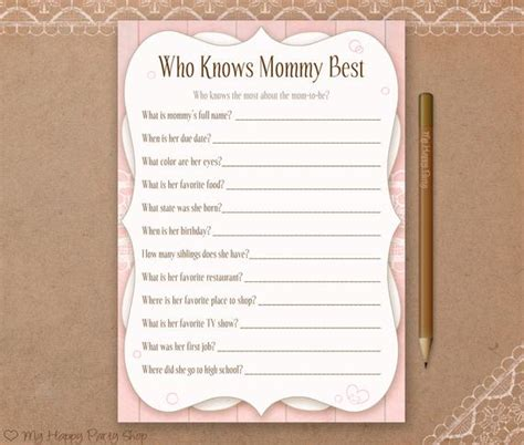Who Knows And Best Free Printable
