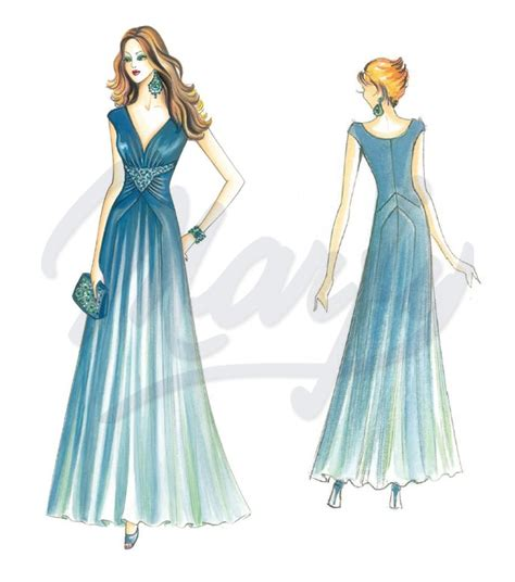 sewing pattern evening gown model 3228 sewing pattern evening gowns
