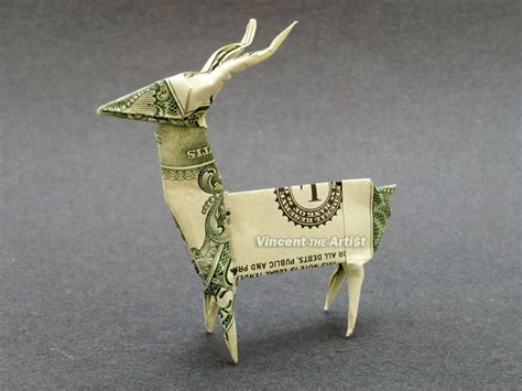 Origami Deer - deer money origami dollar bill buck origami
