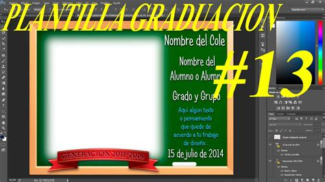 marcos psd graduacion plantilla psd graduaci 243 n escolar con dise 241 o pizarra ideal