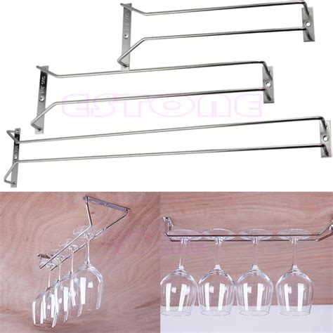 Hanging Bar Glass Rack by New 27 35cm Wine Glass Rack Hanging Stemware Holders Cabinet Home Bar