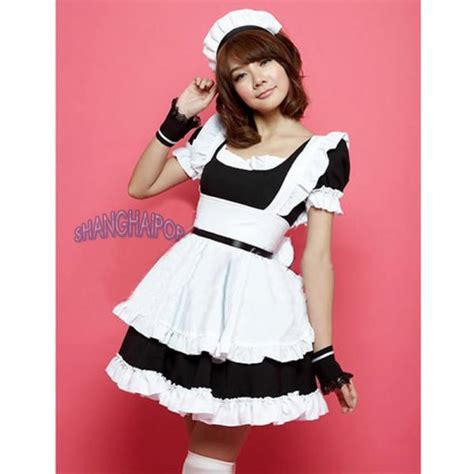 pattern for french maid costume french maid outfit waitress fancy dress ruffle costume