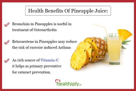 apple juice benefits health benefits of pineapple juice healthiply