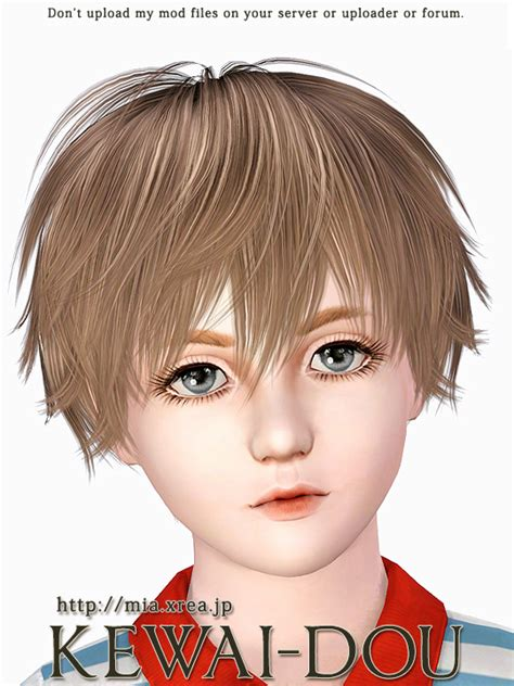 sims 3 child hair this is download page of kisaragi hair that was made by