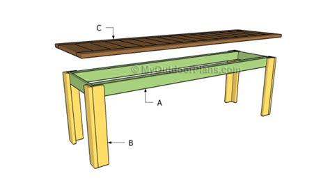 simple wood bench plans simple bench plans treenovation