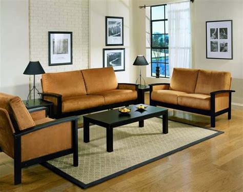 Living Room Wooden Chairs - simple living room wood furniture design with wall mounted