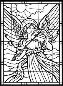 Jewelry Making Magazines Free - angels coloring pages stained glass window