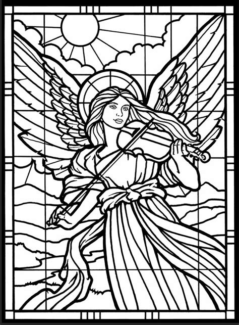 coloring book for windows coloring pages stained glass window 11156