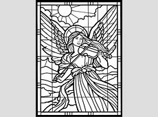 Stained glass window coloring pages download and print for ... Free Black And White Clip Art Letters