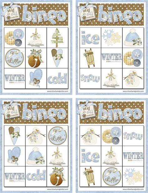 winter bingo card template winter bingo card set 3 to print northpolechristmas