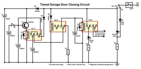 garage door sensor wiring schematic commercial garage door