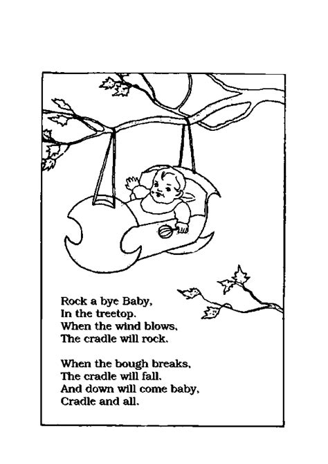 printable free nursery rhymes printable nursery rhyme coloring pages coloring pages