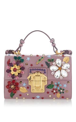 Dg Dolce And Gabbana Floral Canvas Satchel by Flower Motif Bag By Dolce Gabbana Moda Operandi