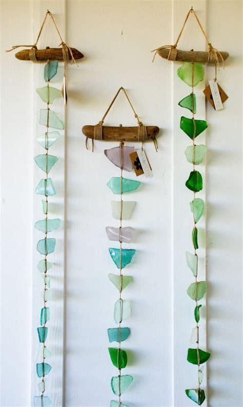 hanging glass wall decor summer glass diy project sea glass wall