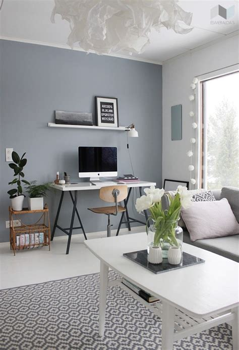 light grey painted room grey blue wall paint like the paint and the rug not