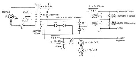 bleeder resistor selection the aa8v 6146b lifier power supply schematic diagrams and circuit descriptions