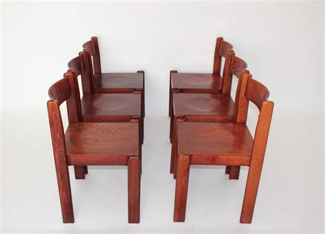 Mid Century Dining Room Furniture Brown Mid Century Modern Italian Design Dining Room Chairs 1970 For Sale At 1stdibs
