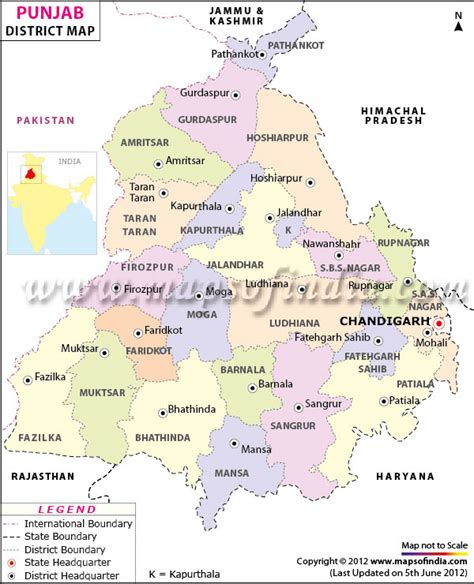 map of punjab pcs helpline new district map of punjab