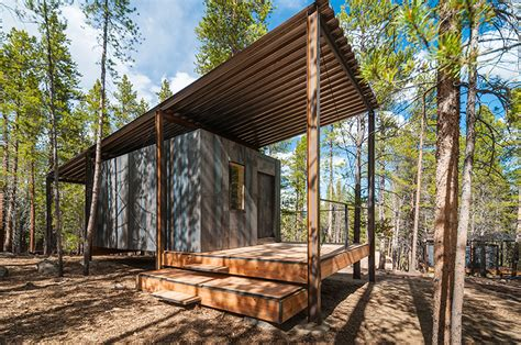 Log House Floor Plans by Colorado Building Workshop Constructs 14 Micro Cabins