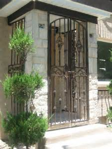 iron gate for front door iron front portico gate creates an outdoor foyer and