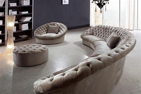 Lexington Sofa Bed Leon Fabric Sectional Sofa Chair And Round Ottoman