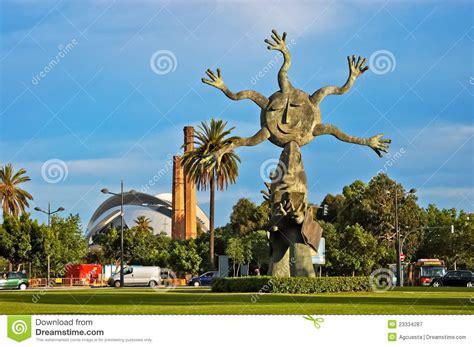 sun sculpture sun sculpture in valencia editorial photography image