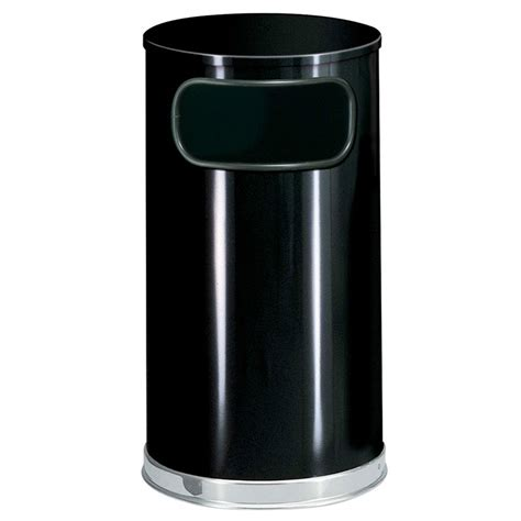 Decorative Trash Cans by Rubbermaid Fgso1620glbk 12 Gal Indoor Decorative Trash Can