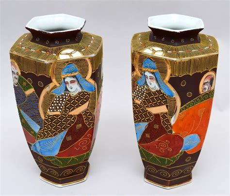 Satsuma Vases For Sale pair of japanese satsuma hexagonal vases for sale at 1stdibs