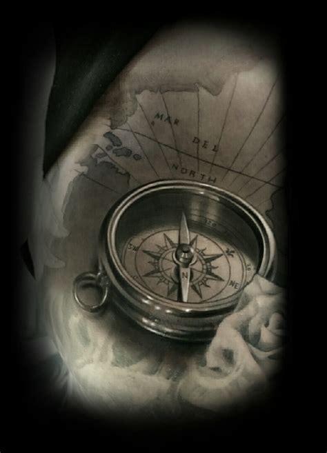 black and grey nautical tattoo david vega certified artist