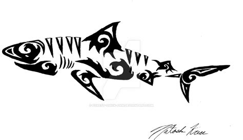 tribal tiger shark by forest quick paw on deviantart