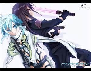 Profil dan biodata tokoh di anime gun gale online sword art online 2