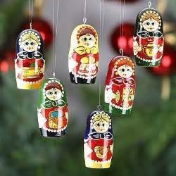 russian girls christmas ornaments set
