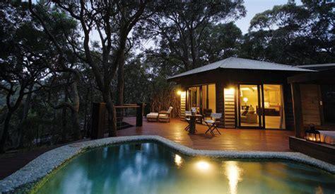 wood beach house  view   forest  australia
