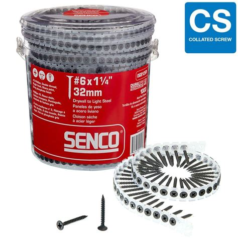 senco 6 1 1 4 in phillips bugle drywall screws