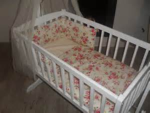 shabby chic floral crib cradle bedding bumper and by