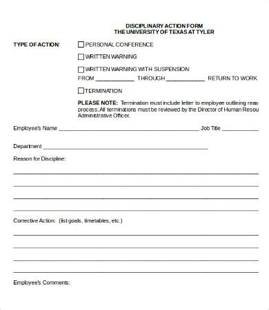 Employee Corrective Action Form Charlotte Clergy Coalition Corrective Form Template