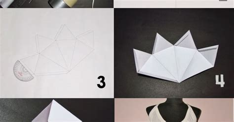 origami geometric tutorial make a cool geometric paper dress full tutorial paper