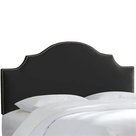 king upholstered headboard with nailhead trim skyline upholstered nailhead trim king headboard in black