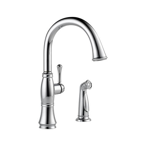 delta single handle kitchen faucet with spray delta 4297 dst cassidy single handle kitchen faucet with